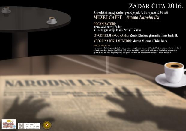 Plakat Zadar čita 2016